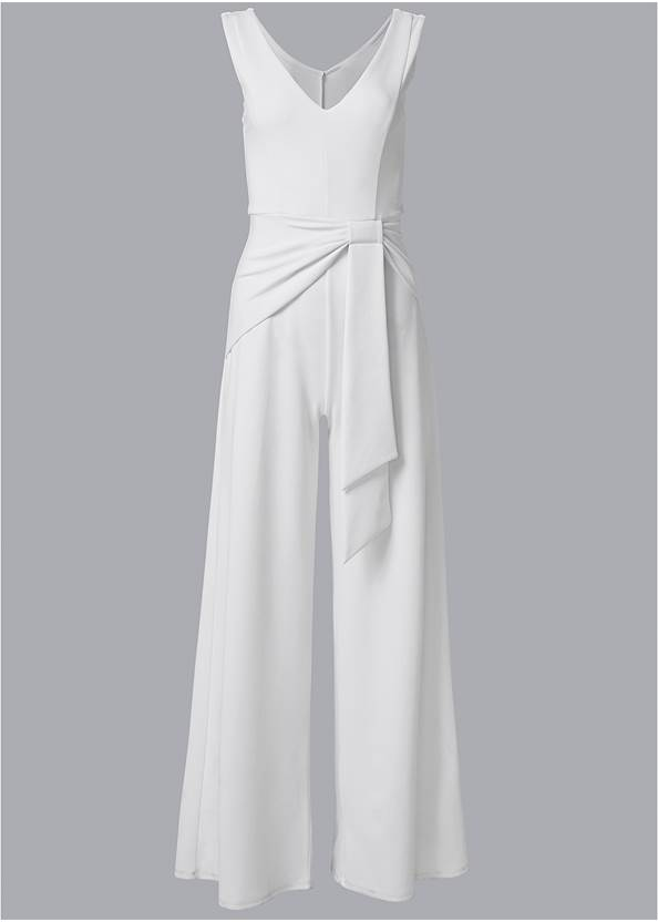 Ghost with background  view Wide Leg Jumpsuit