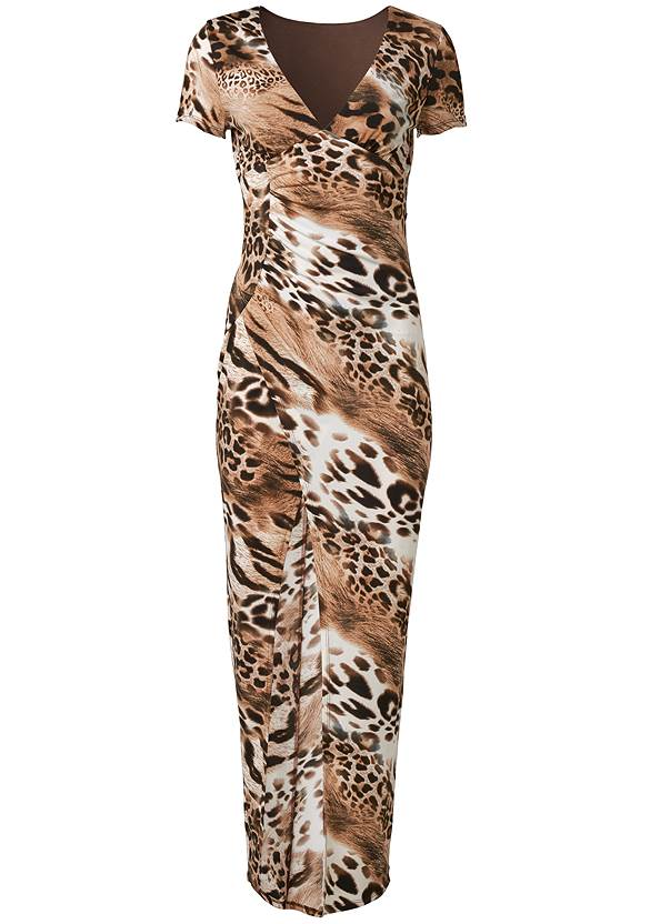 Ghost with background  view Animal Print Maxi Dress