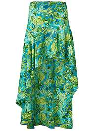 Ghost with background  view Palm Print High Low Skirt
