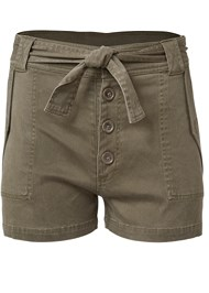 Ghost with background  view Belted Utility Shorts