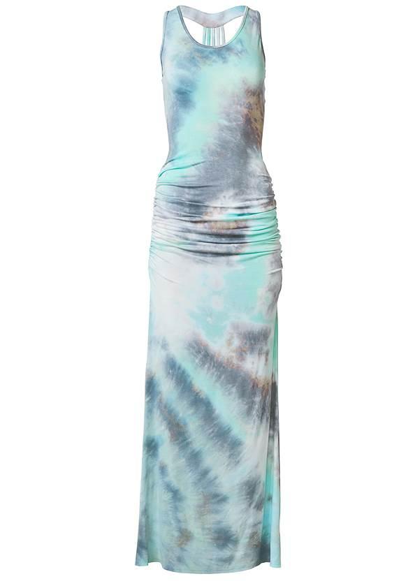 Alternate View Strappy Back Tie Dye Maxi Dress