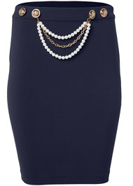 Ghost with background  view Smoothing Chain Belt Pencil Skirt