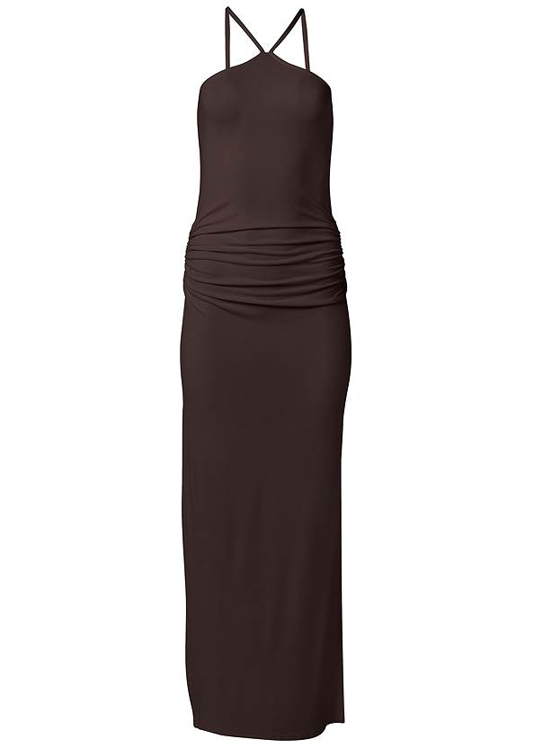 Ghost with background  view Halter Neck Maxi Dress