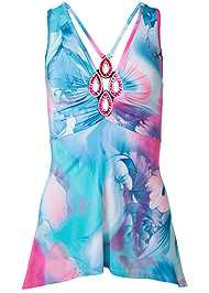 Ghost with background  view Tie Dye Embellished Top