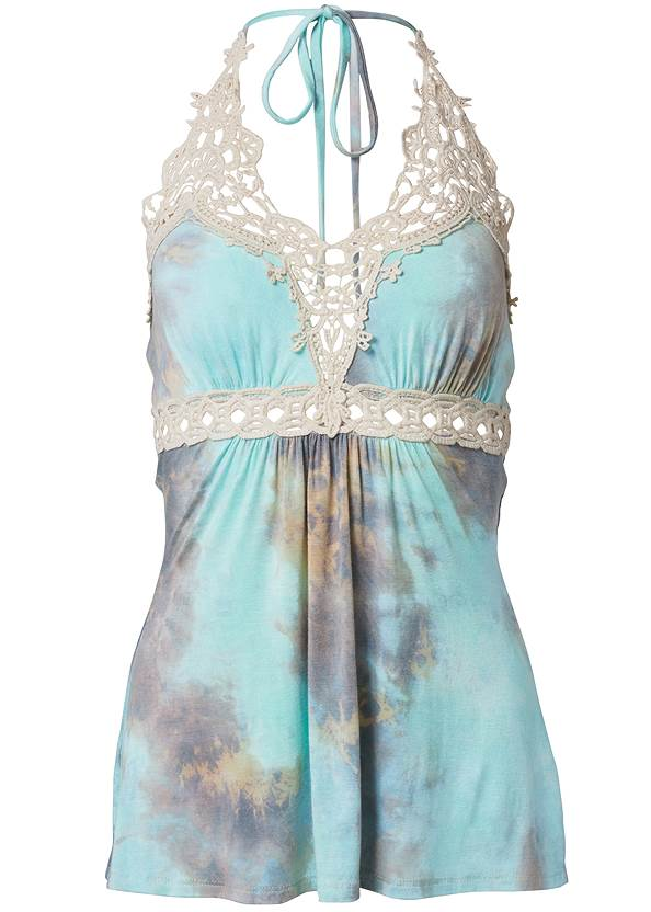 Ghost with background  view Tie Dye Lace Top