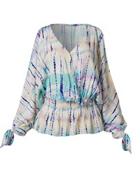Ghost with background  view Tie Dye Cold Shoulder Top