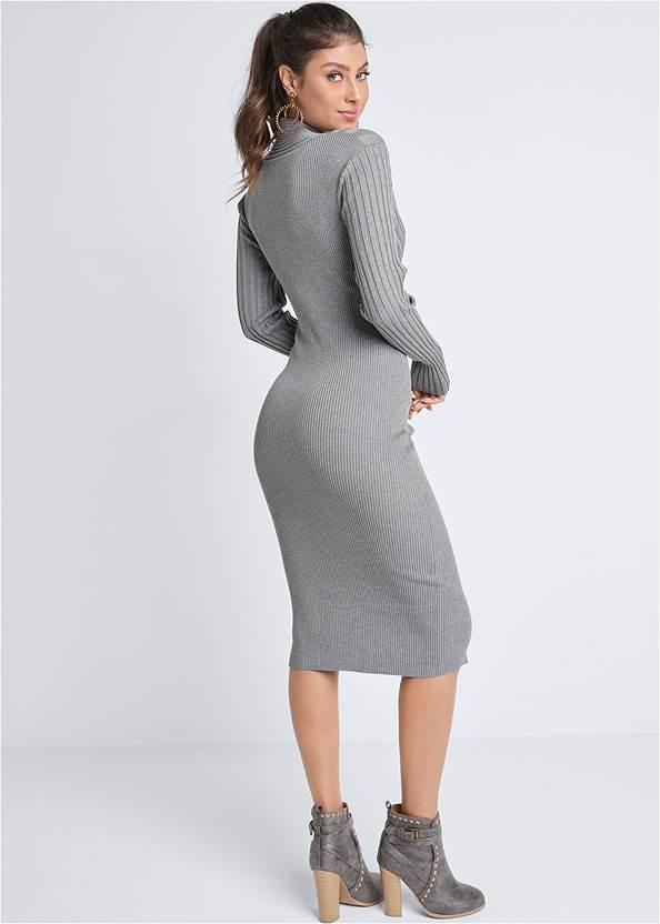 Back View Midi Sweater Dress