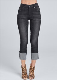 Front view Cropped Cuff Jeans