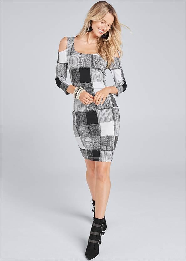Alternate View Cold Shoulder Bodycon Dress