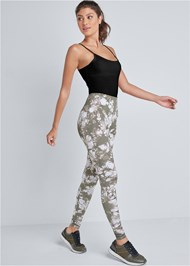 Full Front View High Waisted Active Legging