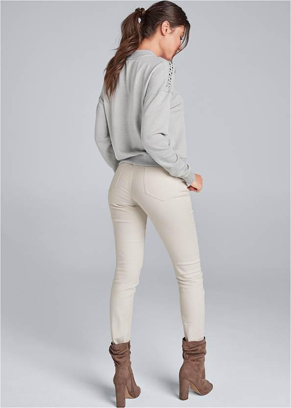 Full back view Studded Lounge Sweatshirt