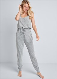 Front View Cozy Hacci Jumpsuit