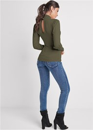 Back View Turtleneck Top