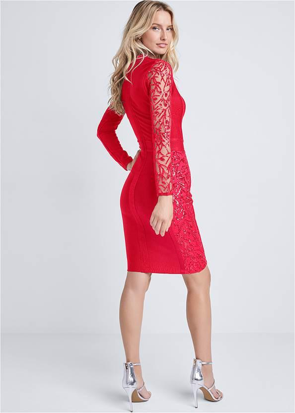 Back View Lace Bandage Dress