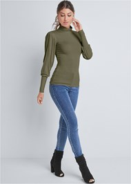 Full front view Turtleneck Top
