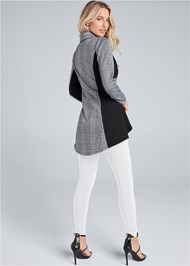 Full back view High Low Houndstooth Blazer