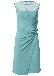 Ghost with background  view Faux Wrap Dress