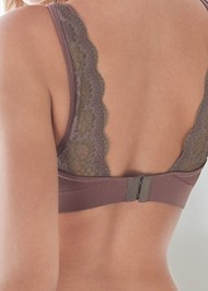 Detail back view Seamless Lace Comfort Bra