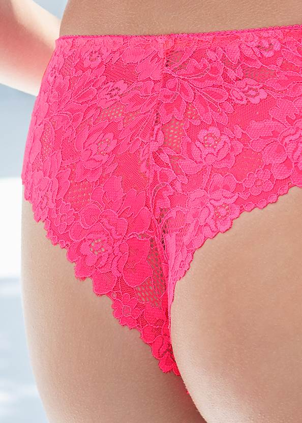 Detail back view Unlined Bra And Panty Set