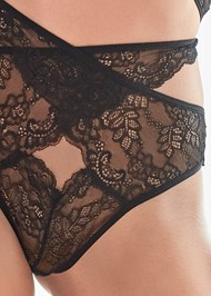 Detail front view Lace Bralette And Panty Set