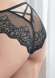 Detail back view Strappy Back Mesh Bikini