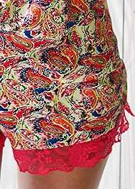 Detail front view Lace Trim Short Set