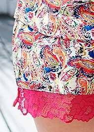 Detail back view Lace Trim Short Set