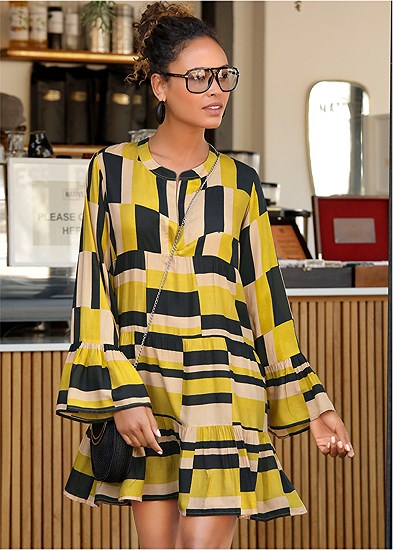geometrical printed dress