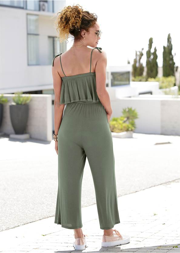 Full  view Tie Strap Casual Jumpsuit