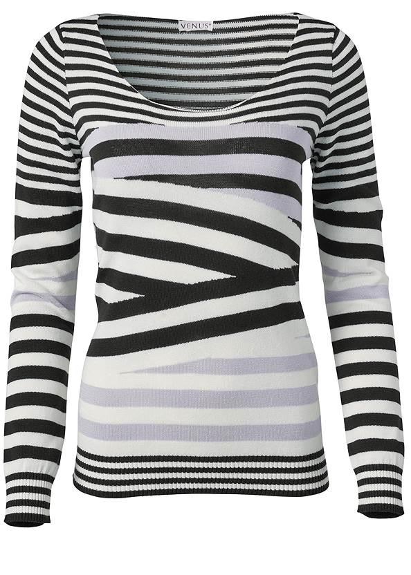 Alternate View Striped Crew Neck Sweater