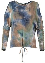 Alternate View Cold Shoulder Tie Dye Top