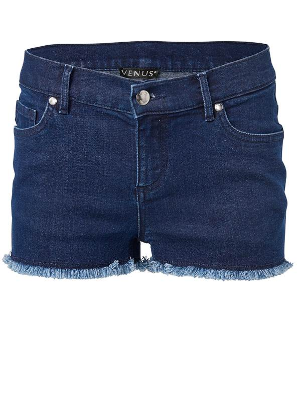 Alternate View Frayed Cut Off Jean Shorts