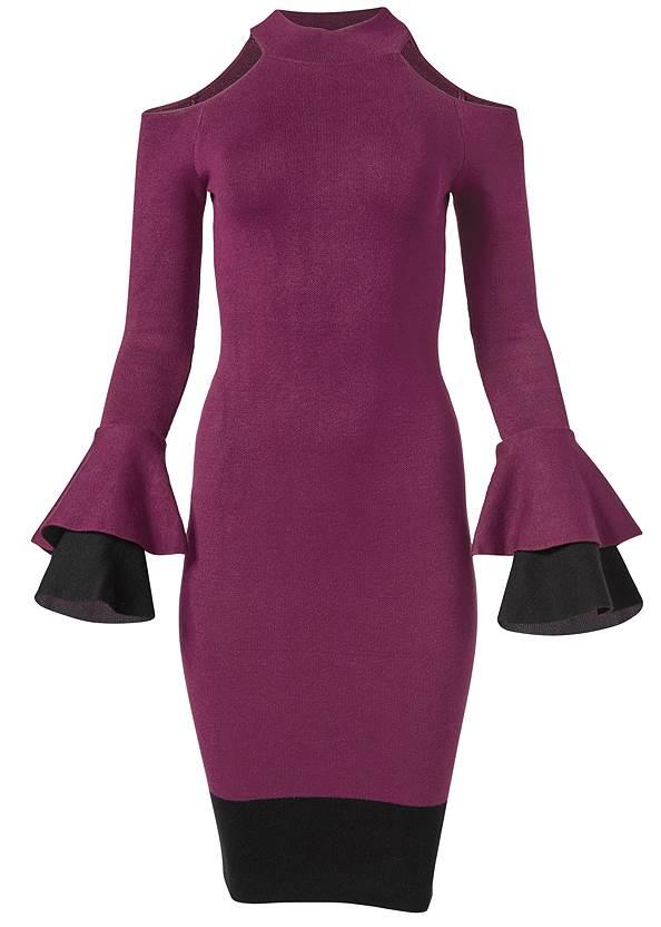 Alternate View Color Block Sweater Dress