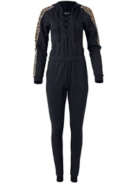 Alternate View Animal Stripe Lace Up Jumpsuit