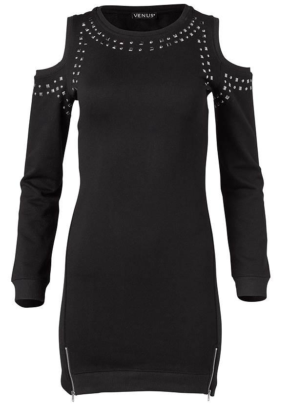 Alternate View Studded Cold Shoulder Lounge Dress
