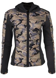 Alternate View Camo Print Puffer Detail Jacket