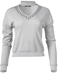 Ghost with background  view Studded Lounge Sweatshirt