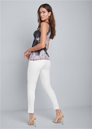 Full back view Tie Dye Embellished Top