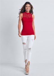 Alternate View Sleeveless Seamless Top