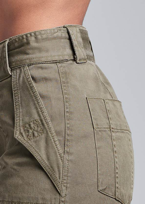 Detail side view Belted Utility Shorts