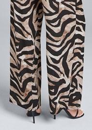 Detail back view Wide Leg Tiger Print Jumpsuit