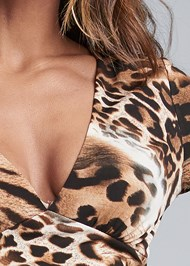 Detail front view Animal Print Maxi Dress