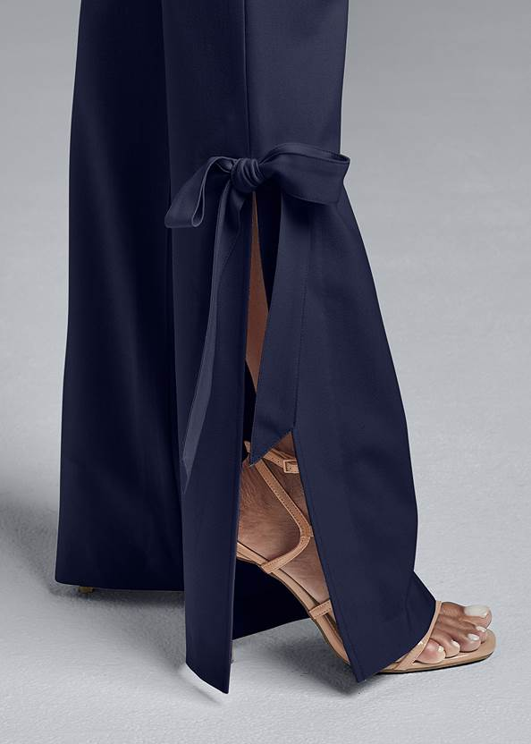 Detail side view Smoothing Tie Bow Hem Pants