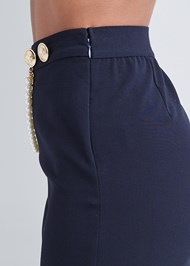 Detail side view Smoothing Chain Belt Pencil Skirt