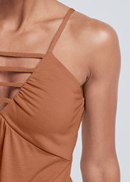 Detail front view Strappy Sleeveless Top