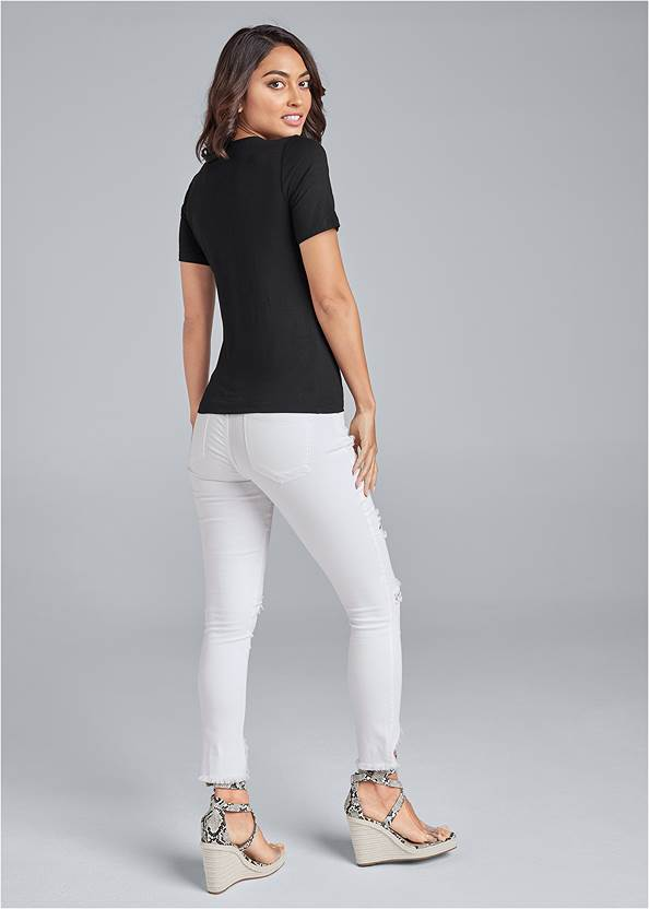 Back View Lace Up Grommet Top
