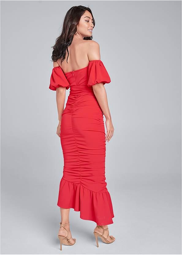 Alternate View Off-Shoulder Ruched Dress
