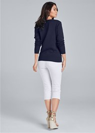 Back View Anchor V-Neck Sweater