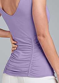 Detail back view Ruched Tie Strap Top
