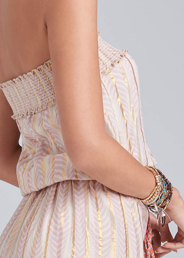 Detail back view Embroidered Maxi Dress